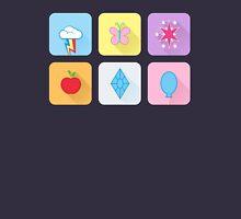 My Little Pony - Mane Six Flat Icons Unisex T-Shirt