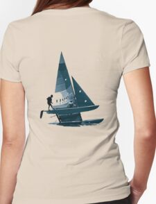 Cat Sailing Womens Fitted T-Shirt