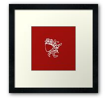 Vintage Red Santa Claus with Presents Framed Print