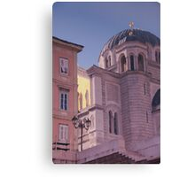 Reflections of Trieste, Italy. Canvas Print