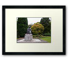 Joseph Lister looking over to Glasgow University Framed Print