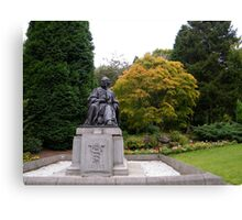 Joseph Lister looking over to Glasgow University Canvas Print