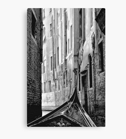 Back Street Gondola Canvas Print