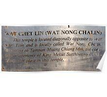 Wat Chet Lin  Poster