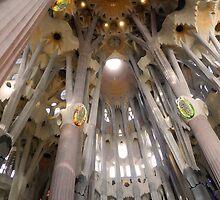Sagrada Familia Vault over the Altar, Barcelona by Sue Ballyn