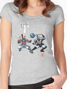 Tatakae Chou Samurai Seimeitai! Women's Fitted Scoop T-Shirt
