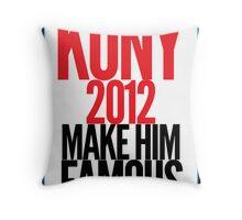 KONY - Make him famous Throw Pillow