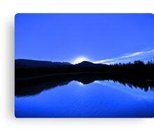 Blue Mirror Lake Canvas Print