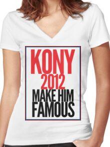 Make Kony Famous Women's Fitted V-Neck T-Shirt