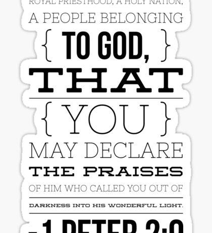 1 Peter 2:9 Sticker