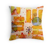 Watercolor Wonder Throw Pillow