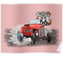 Race car in America higway rustic designer. Poster