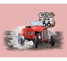 Race car in America higway rustic designer. Photographic Print