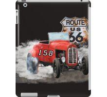 Race car in America higway rustic designer. iPad Case/Skin