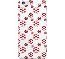Vintage Red Snowflakes Pattern iPhone Case/Skin