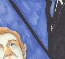 John and Sherlock - Moonstruck Johnlock - Halloween  Sticker