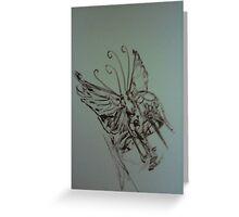 Original World Butterfly sketch LW Greeting Card