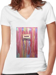 Mix Tape II  Women's Fitted V-Neck T-Shirt