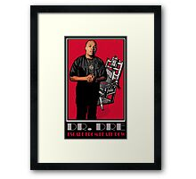 HIP-HOP ICONS: DR. DRE - ESCAPE FROM DEATH ROW Framed Print