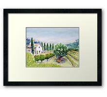 French vineyard Framed Print