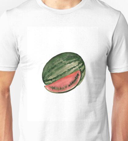 Watermelon tropical fruits poster Unisex T-Shirt