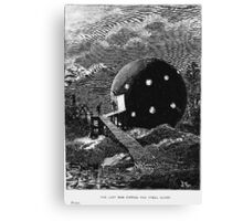 Vintage Sci Fi Space Travel Canvas Print