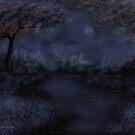 Blue River Night by Mitch Adams