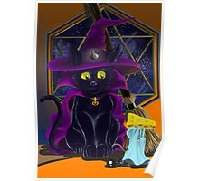 Halloween Black Cat Poster