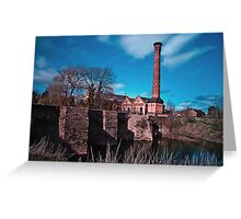 Powick Bridge and Mill Greeting Card