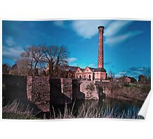 Powick Bridge and Mill Poster