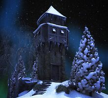 Winter Tower by Gypsykiss