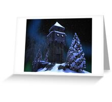 Winter Tower Greeting Card