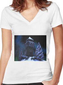 Winter Tower Women's Fitted V-Neck T-Shirt