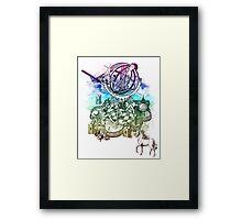 strange unicorn garden Framed Print