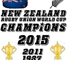 New Zealand Rugby World Cup Champions 2015 T Shirt and Hoodie by zandosfactry