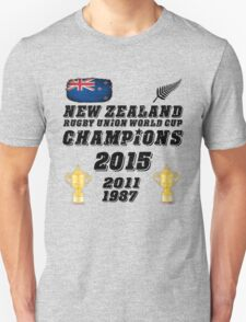 New Zealand Rugby World Cup Champions 2015 T Shirt and Hoodie T-Shirt