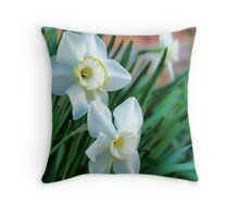 Elegant Daffodils Throw Pillow