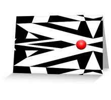 Red Ball 26 Greeting Card