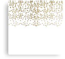 Elegant Faux Gold Confetti Pattern Canvas Print