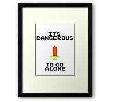 Zelda Sword Quote Framed Print