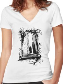 Corporate Slog Women's Fitted V-Neck T-Shirt