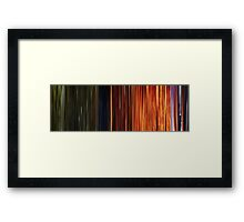 Moviebarcode: Sequence from Toy Story 3 (2010) Framed Print