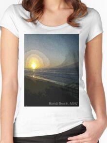 Bondi Beach Sunset Women's Fitted Scoop T-Shirt