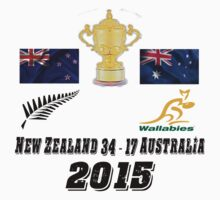New Zealand v Australia 34 17 Rugby World Cup Final 2015 T Shirt and Hoodie Kids Clothes