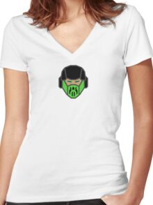 MK Ninjabot Reptile Women's Fitted V-Neck T-Shirt