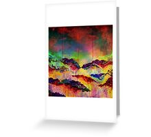 ITS A ROSE COLORED LIFE 4 Floral Rainbow Red Blue Yellow Green Flowers Abstract Acrylic Painting Fine Art Greeting Card