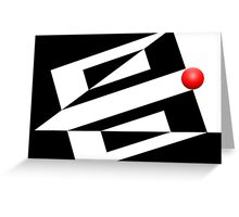 Red Ball 14 Greeting Card