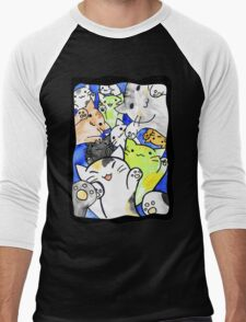 Manga cats conquer the world again (with frame) Men's Baseball ¾ T-Shirt