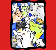 Manga cats conquer the world again (with frame) Women's Fitted V-Neck T-Shirt