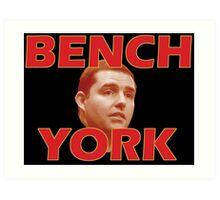 Bench York Art Print
